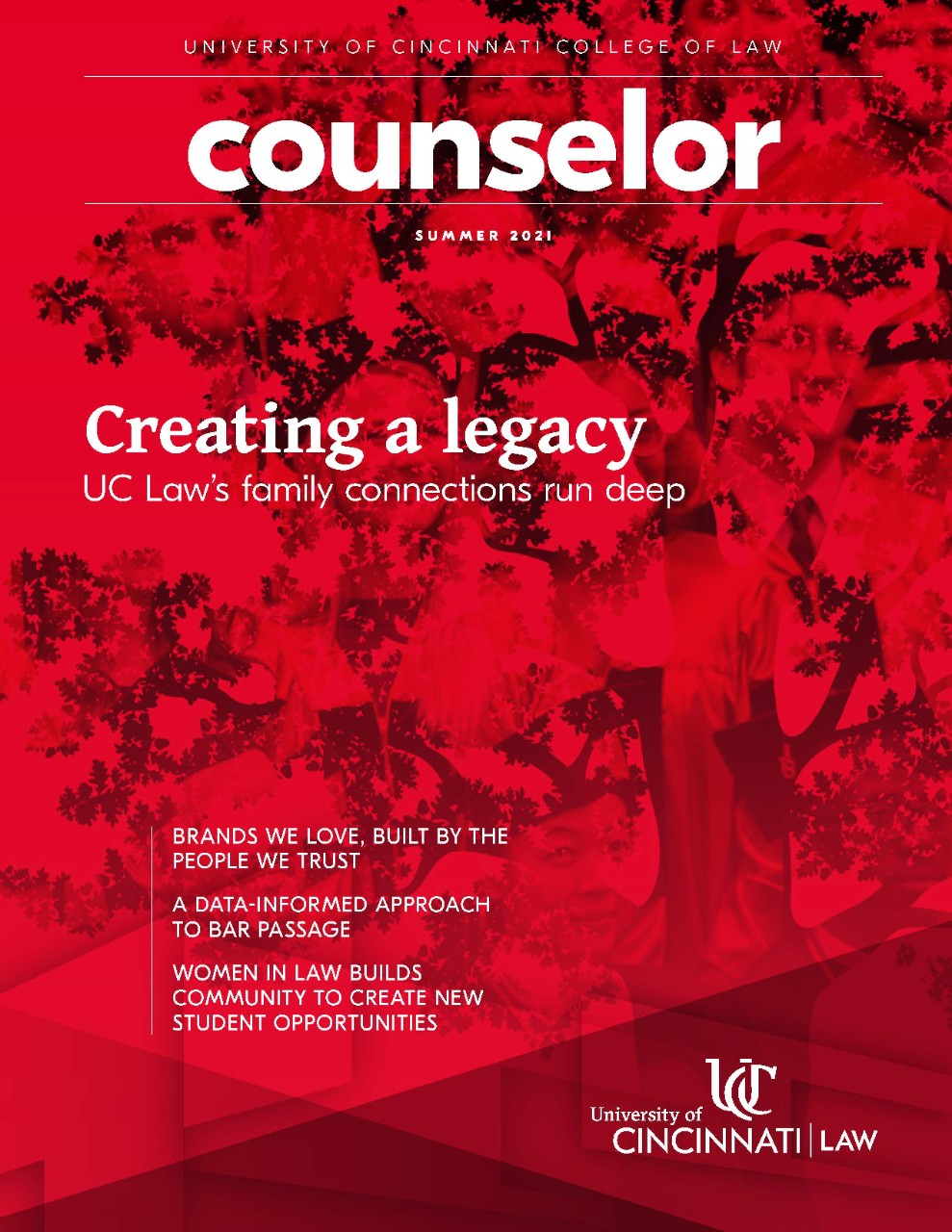 """Cover of the 2016-2017 Special Edition of Counselor. A ship approaches a shore and the cover reads """"Impacting the global marketplace."""""""